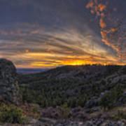 Big Rock Panorama Poster