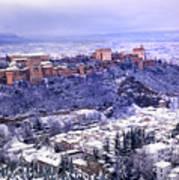 Big Snow In The Alhambra Granada  Poster