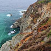 Big Sur Colorful Sea Cliffs Poster