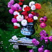 Big Vase With Peonies Poster