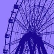 Big Wheel Blue Poster