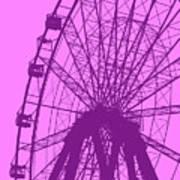 Big Wheel Purple Poster