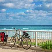 Bike Break At The Beach Poster