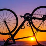Bike On Seawall Poster