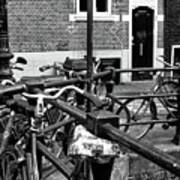 Bikes Hanging Out Mono Poster