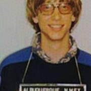 Bill Gates Mug Shot Vertical Color Poster