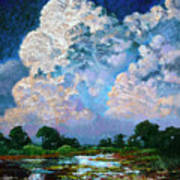 Billowing Clouds Poster