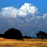 Billowing Thunderhead Poster by Frank Wilson