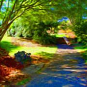 Biltmore Mansion Walking Path Poster