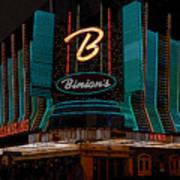 Binions Vegas Poster
