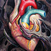 Bio Heart Poster by Matt Truiano