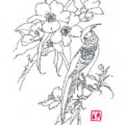 Bird And Flowers Poster