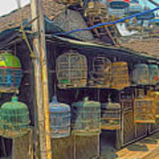 Bird Cages Vintage Photo Indonesia Poster