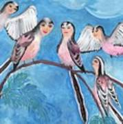 Bird People Long Tailed Tits Poster