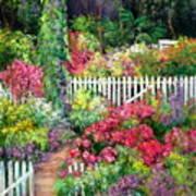 Birdhouse Garden Poster