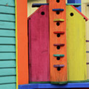 Birdhouses For Colorful Birds 5 Poster