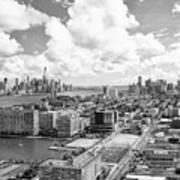 Bird's Eye View Hoboken Nj Poster