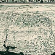 Birds-eye View Of California Poster