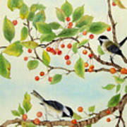 Birds In Autumn Season II Poster