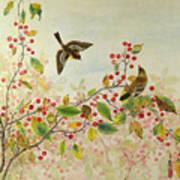 Birds In Autumn Poster