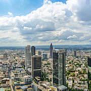 Birdview Of Frankfurt Am Main Poster