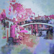Birmingham Canal Watercolor Poster