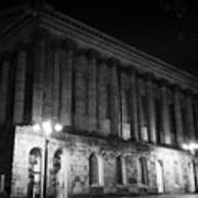 Birmingham Town Hall In The City Centre At Night England Uk Poster