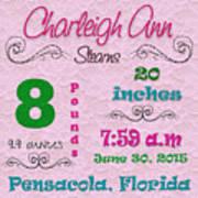 Birth Announcement Poster