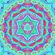 Birth Mandala- Blessing Symbols Poster
