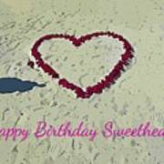 Birthday Card For Sweethearts Poster