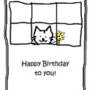 Birthday Greeting Card Poster