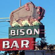 Miles City Montana - Bison Bar Poster