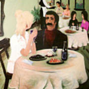 Bistro Mural Detail 1 Poster