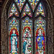 Black Abbey Window - Kilkenny - Ireland Poster