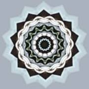 Black And Blue Mandala Poster