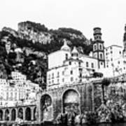 Black And White Amalfi Poster