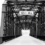 Black And White Bridge Poster