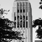 Black And White Clock Tower Poster