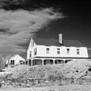 Black And White Image Of A House In New England In Infrared Poster