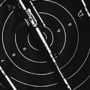 Black And White Military Marksman  Poster