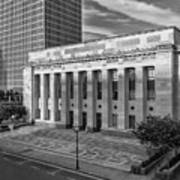 Black And White Of The Tennessee Supreme Court Building In Nashville Tennessee Poster