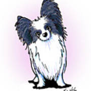 Black And White Papillon Poster