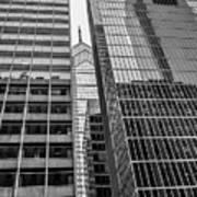Black And White Philadelphia - Skyscraper Reflections Poster
