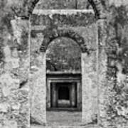 Black And White Photograph Beaufort Historic Church - Chapel Of The Ease Poster