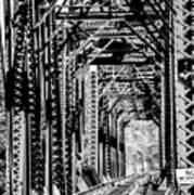 Black And White Railroad Poster