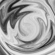 Black And White Swirl Poster