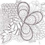 Black And White Tangle Poster