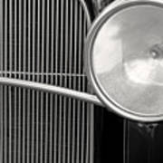 Black And White Vintage Car Abstract 1 - Natalie Kinnear Photogr Poster