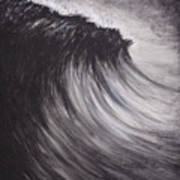 Black And White Wave Guam Poster