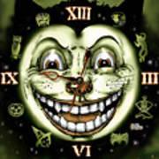 Black Cat 13 Halloween Clock Poster